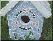 Mosaic Birdhouse ~ Front View