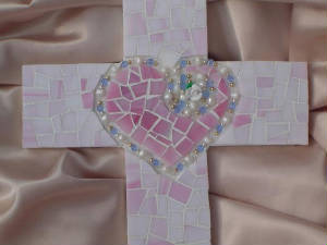 Mosaic Cross ~ In Memory Of Closeup