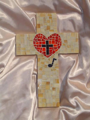 Lutheran Heart With Music Note Cross