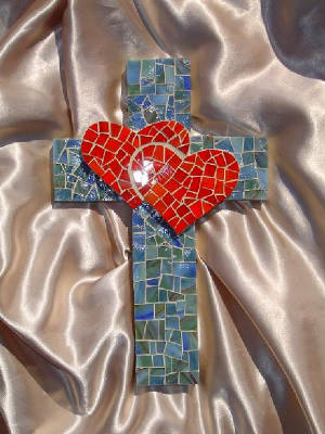 Mosaic Cross ~ Two Hearts Shall Be One