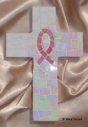 Mosaic Cross ~ Breast Cancer Pink Ribbon