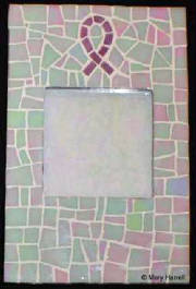 Mosaic Picture Frame ~ Breast Cancer Pink Ribbon
