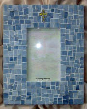 Mosaic Picture Frame ~ Ceramic Cross Tile
