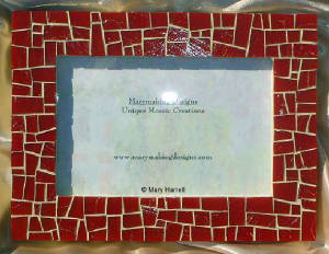 Mosaic Picture Frame ~ Deep Red