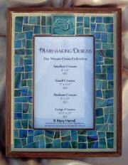 Mosaic Picture Frame ~ Dove Tile in Blue/Green