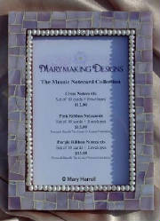 Mosaic Picture Frame ~ Lavender and Pearls