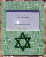 Mosaic Picture Frame ~ Star of David