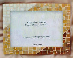Mosaic Picture Frame ~ Tri Color Browns