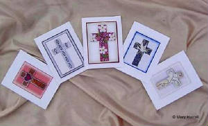 Mosaic Notecard Set ~ Crosses