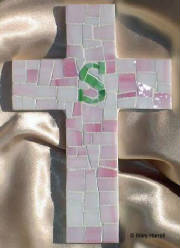 "Mosaic Cross ~ Personalized ""S"""