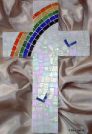 Mosaic Cross ~ Somewhere Over the Rainbow 2