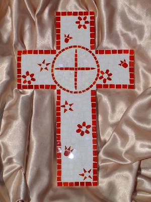 Mosaic Cross ~ In Honor of Addie's First Communion