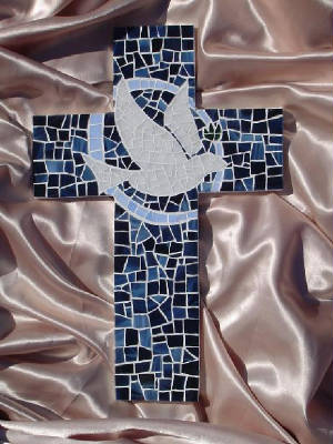 Mosaic Cross ~ Dove Series In Honor Of