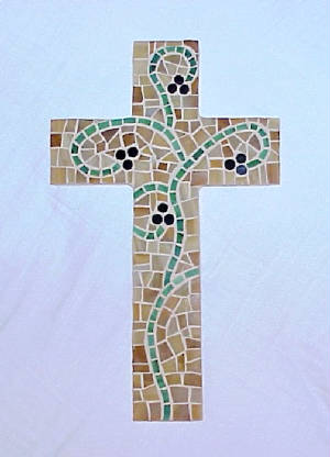 Mosaic Cross ~ Abideth In Me II