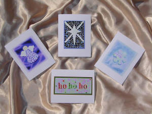 Mosaic Notecards ~ Christmas Set