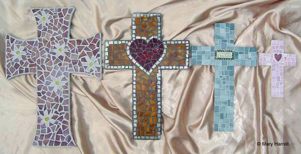 Mosaic Cross Sizes~ Large, Medium, Small, Smallest