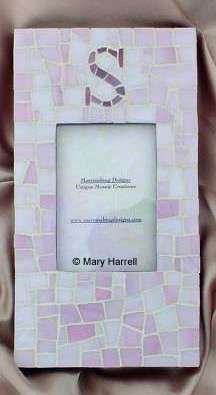 "Mosaic Picture Frame ~ Personalized ""S"""