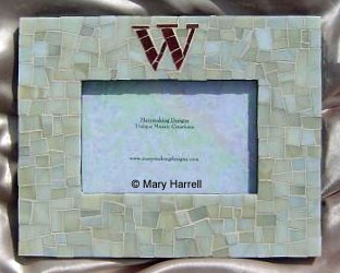 "Mosaic Picture Frame ~ Personalized ""W"""